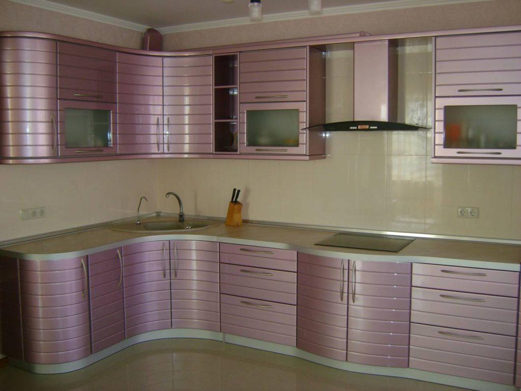 Г-образная кухня №32 с фрезеровкой