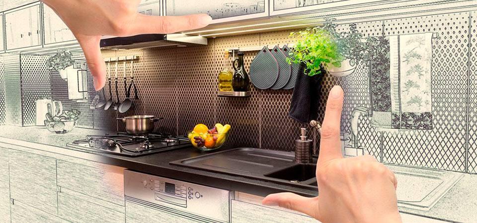 Чертеж и дизайн будущей кухни
