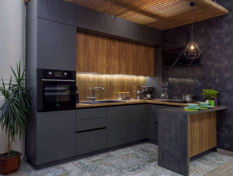 Кухонный гарнитур без ручек: плюсы и минусы