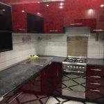 Кухня - бордовый корок