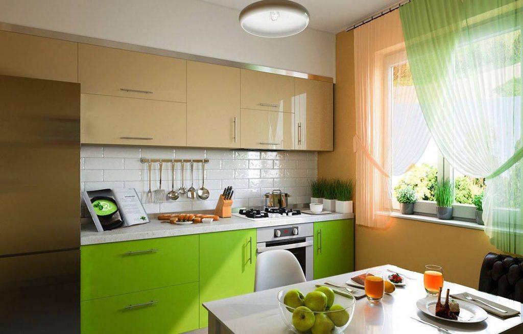 Прямая кухня №48 в стиле модерн в пластике