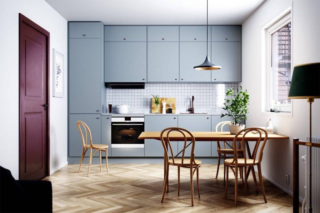 Прямая кухня минимализм №52