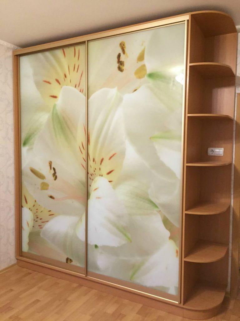 Шкаф-купе №15 с фотопечатью цветов