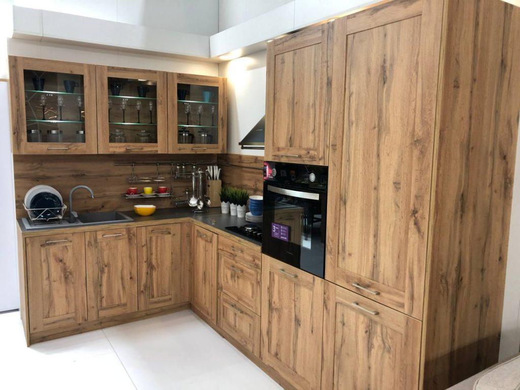 Угловая кухня в стиле лофт №9