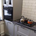 Кухня с фасадами из цельного МДФ с фрезерованной рамкой